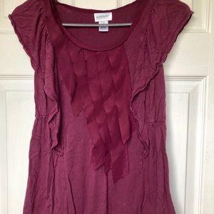 🤰🏻Motherhood maternity size XS wine purple shirt